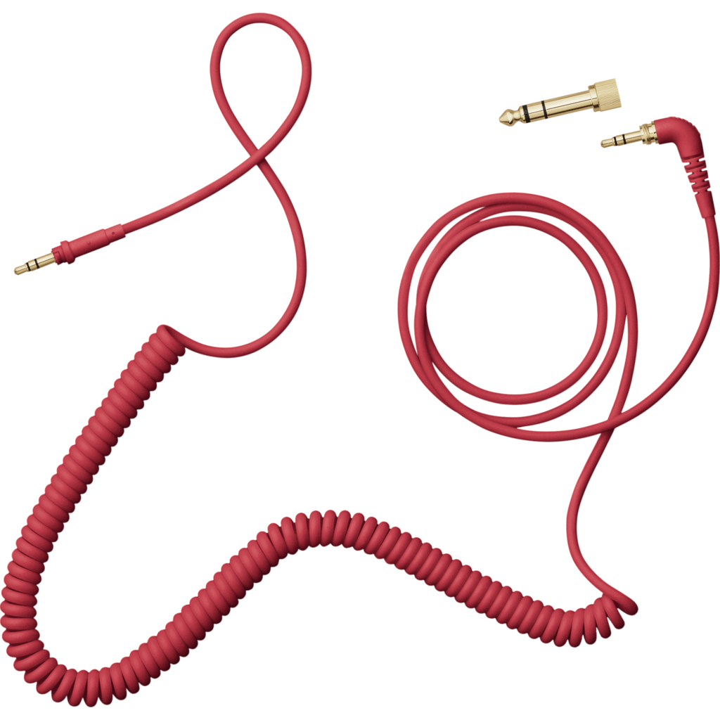 AIAIAI 1.5m Coiled Cable with Adaptor | Red C10