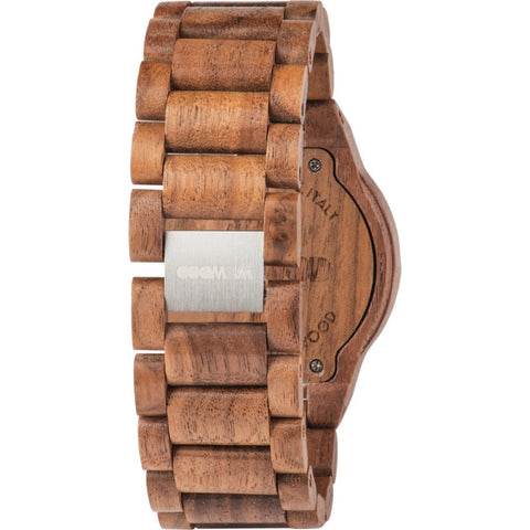 WeWood Leo Leather US Nut Wood Watch | Walnut WLLNUS