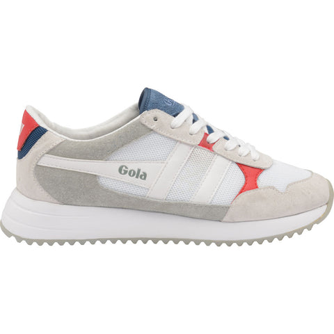 Gola Mens Toronto Sneakers | White/Red/Sun- CMA559-Size 13
