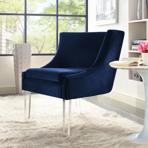 TOV Furniture Myra Velvet Chair | Blue- TOV-A105