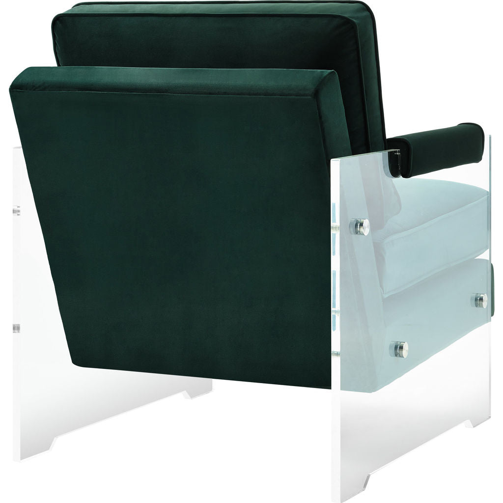 ... TOV Furniture Serena Velvet/Lucite Chair | Green  TOV A106 ...