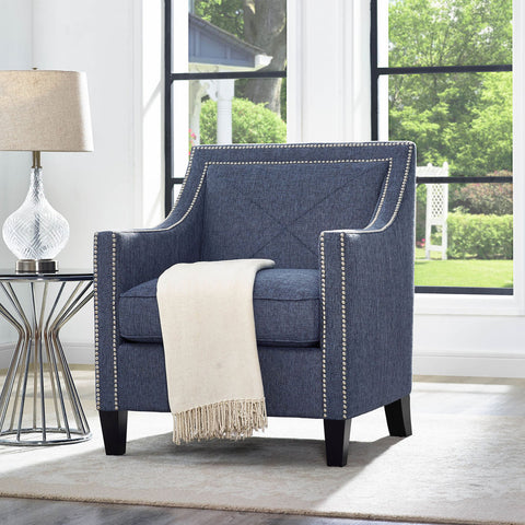 TOV Furniture Asheville Linen Chair | Blue- TOV-A121