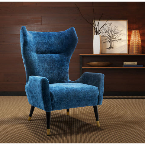 TOV Furniture Logan Velvet Chair | Navy- TOV-A156