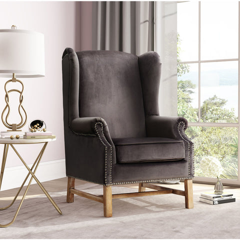 TOV Furniture Nora Velvet Chair | Grey- TOV-A2043