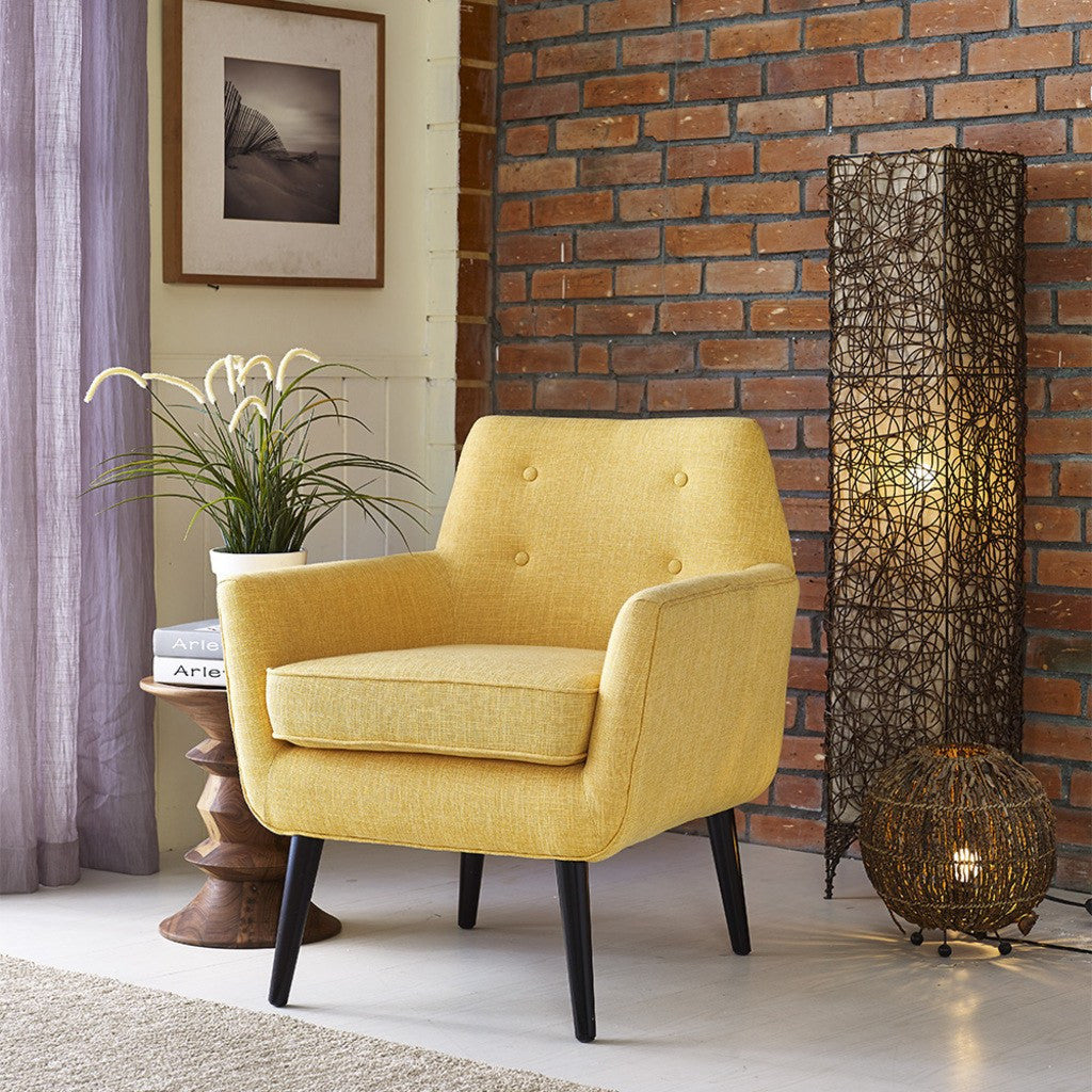 ... TOV Furniture Clyde Linen Chair | Mustard Yellow TOV A38 Y ...
