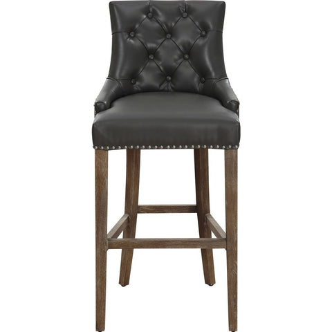 TOV Furniture Uptown Leather Counter Stool | Grey- TOV-BS16