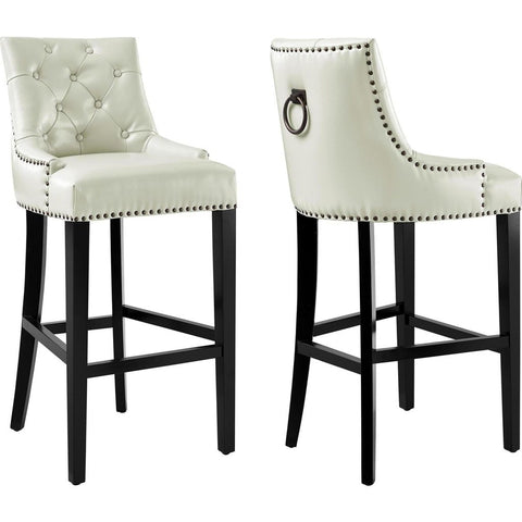TOV Furniture Uptown Leather Barstool | Cream- TOV-BS18