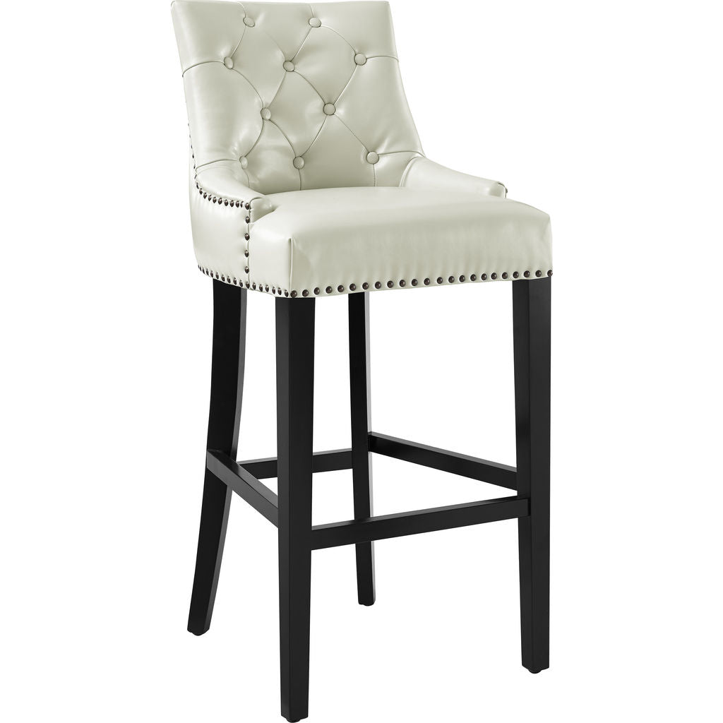 TOV Furniture Uptown Leather Counter Stool Cream - Sportique