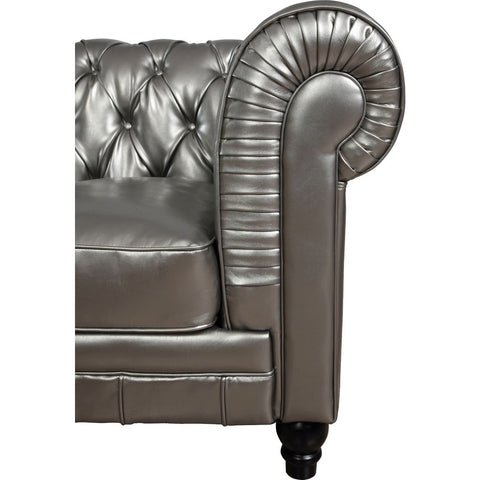 TOV Furniture Zahara Leather Club Chair | Silver- TOV-C40
