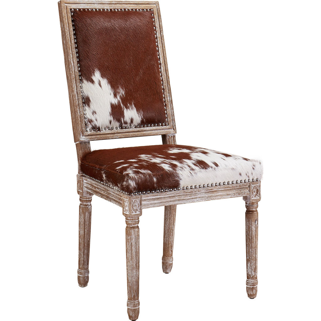 TOV Furniture Cowgirl Chair Set Of 2 Cowhide