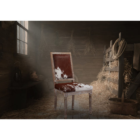 TOV Furniture Cowgirl Chair Set of 2 | Cowhide- TOV-D2050