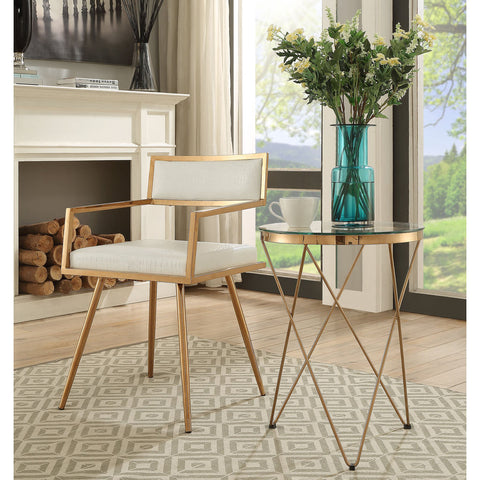 TOV Furniture Marquee Table | Rose Gold- TOV-G5462