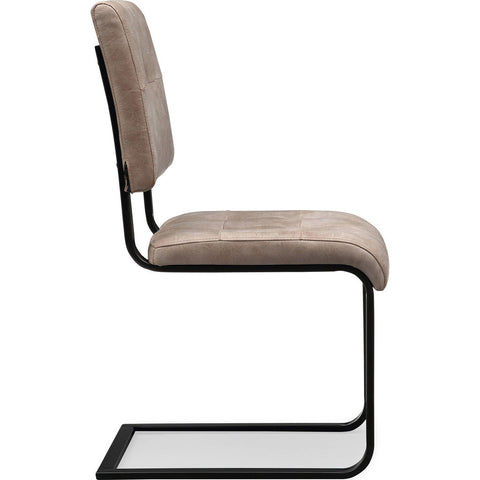 TOV Furniture Cora Chair Set of 2 | Smokey Taupe, Black- TOV-G5473