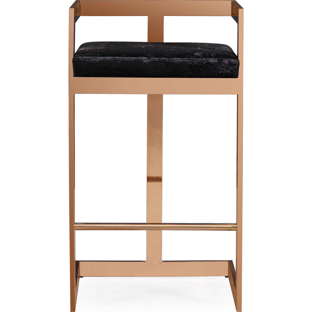 Phenomenal Tov Furniture Marquee Bar Stool Black Rose Gold Unemploymentrelief Wooden Chair Designs For Living Room Unemploymentrelieforg
