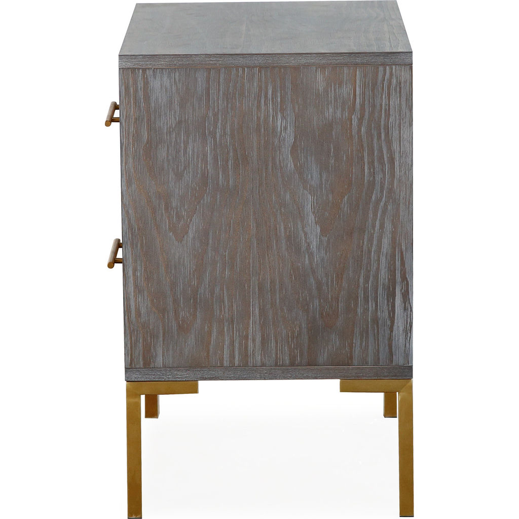 TOV Furniture Quinn Side Table | Grey, Gold  TOV G5499 ...