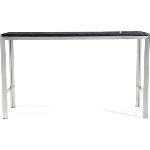 TOV Furniture Ludlow Bar Table | Silver, Black- TOV-K3680