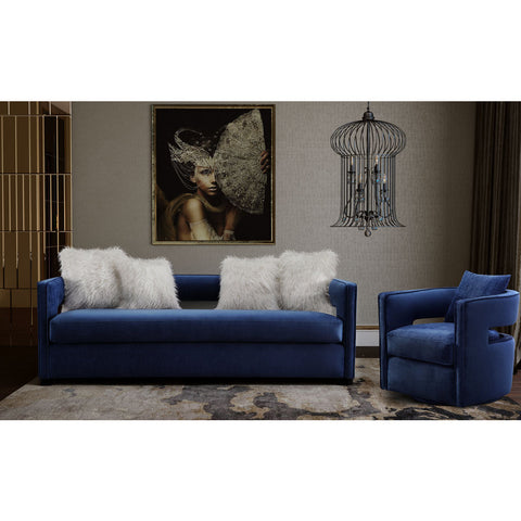 TOV Furniture Kennedy Velvet Sofa | Navy- TOV-L6126