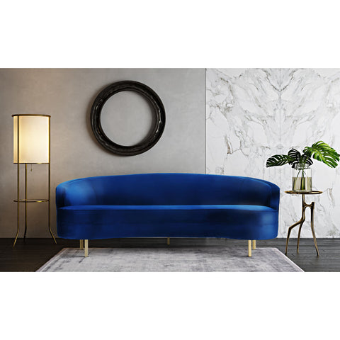 TOV Furniture Baila Velvet Sofa | Navy- TOV-S135