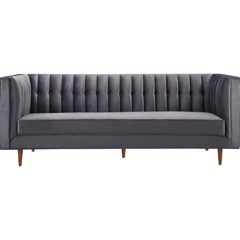 TOV Furniture Sebastian Velvet Sofa | Grey- TOV-S150