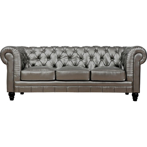 TOV Furniture Zahara Leather Sofa | Silver- TOV-S24
