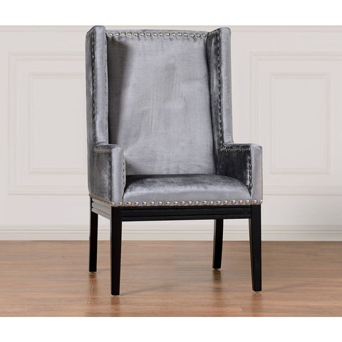 TOV Furniture Tribeca Velvet Chair | Grey- TOV-TRI-GV