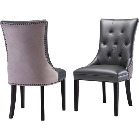 TOV Furniture Ester Grey Chair Set of 2 | Grey- TOV-G7210