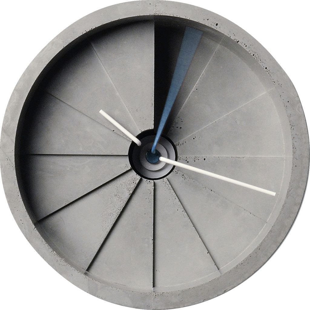 22 Design 4th Dimension Concrete Wall Clock | Blue / Gray CC01000