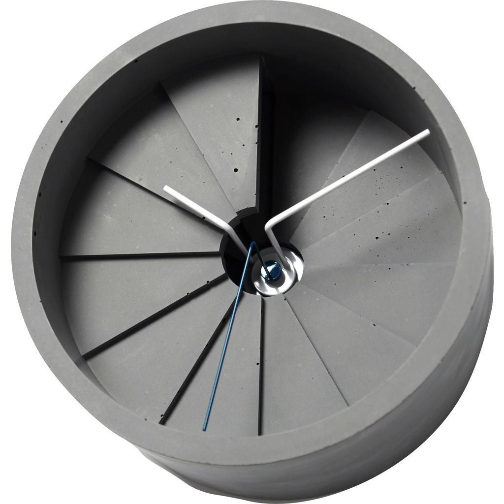 23 Design 4th Dimension Concrete Wall Clock | Blue / Gray CC01000