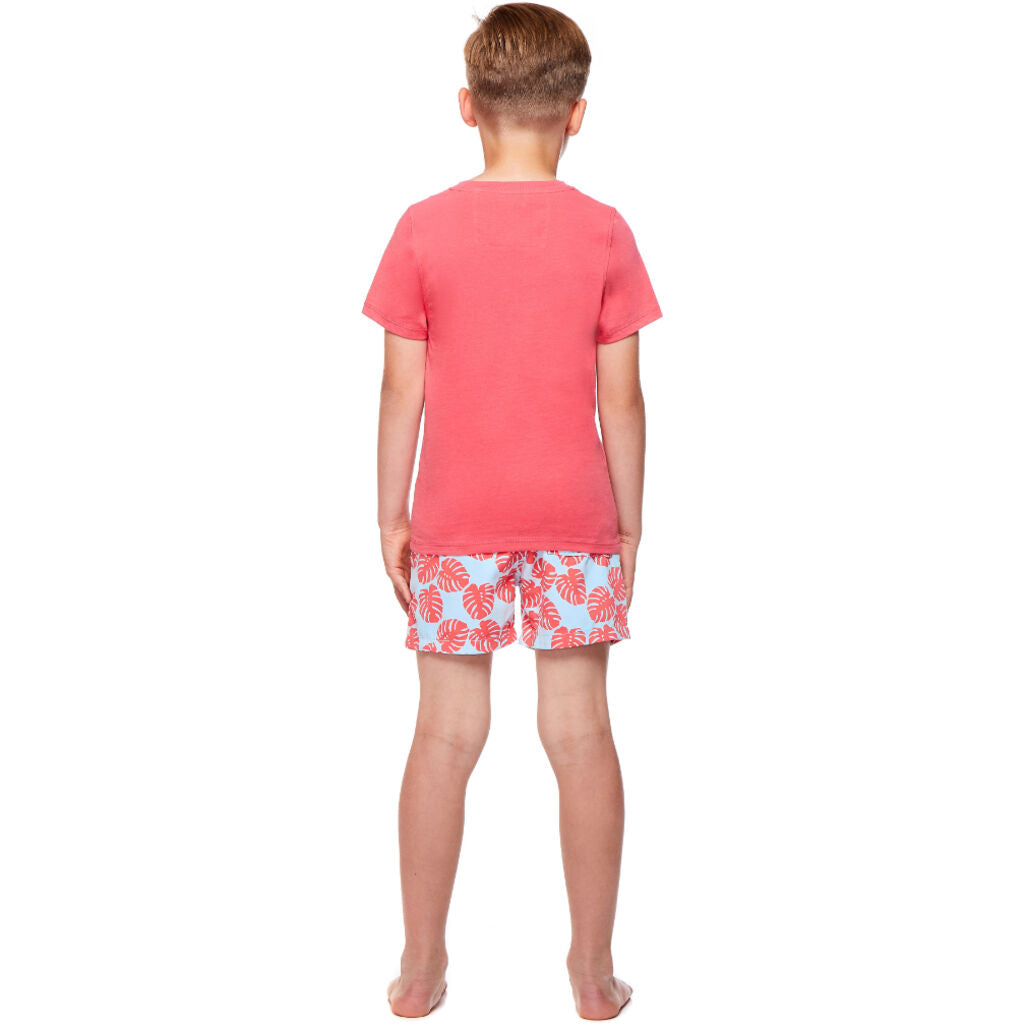 Tom & Teddy Boy's T-Shirt | Deep Sea Coral