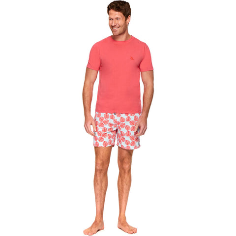 Tom & Teddy Men's T-Shirt | Deep Sea Coral
