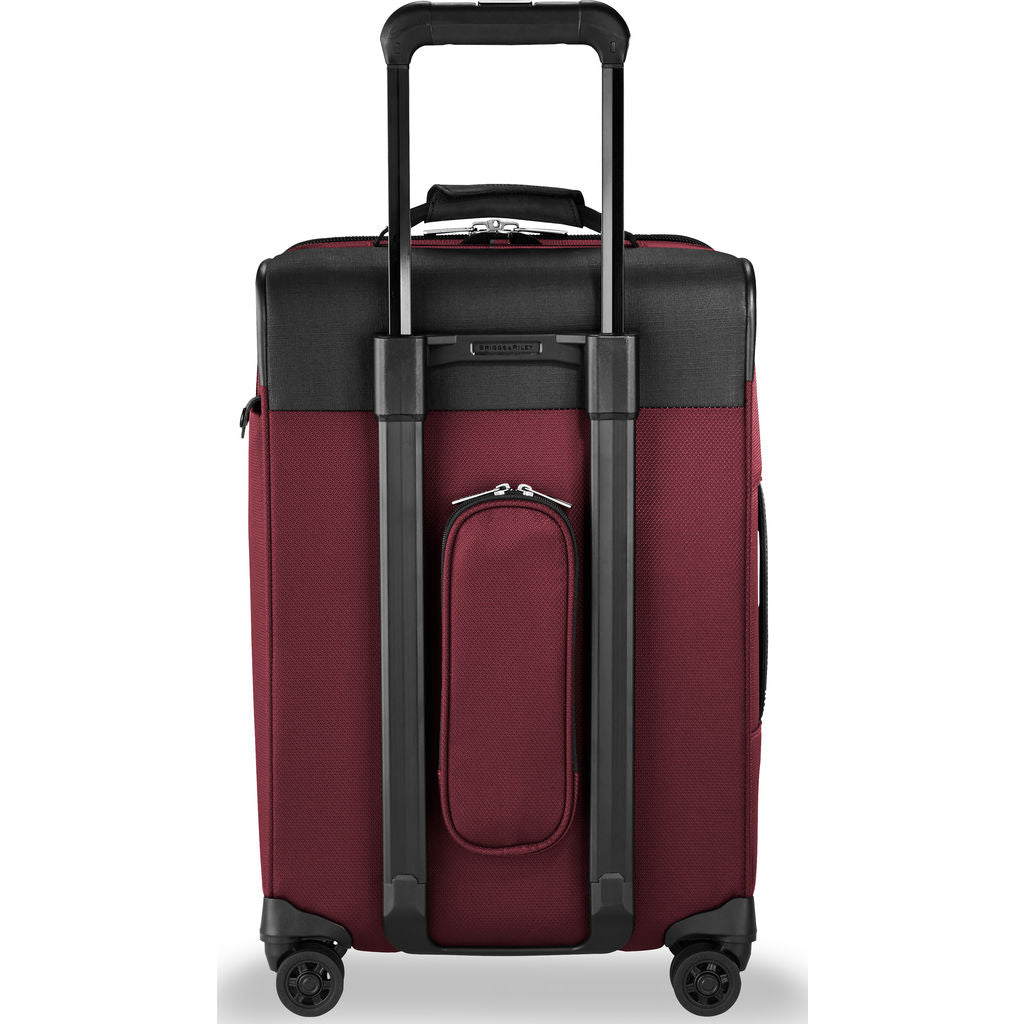Briggs & Riley Tall Carry-On Expandable Spinner Suitcase  | Merlot- TU422VXSP