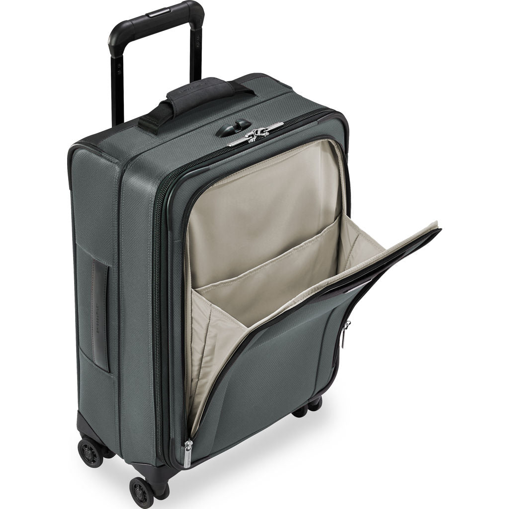 Briggs & Riley Transcend Tall Carry-On Expandable Spinner Suitcase | Slate