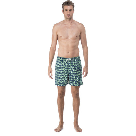 Tom & Teddy Turtle Swim Trunk | Navy & Green Size L