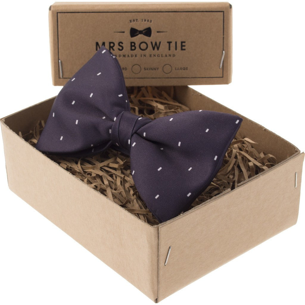 Mrs Bow Tie Dr. Who 50th Anniversary Ready-Tied Bow Tie | Dark Purple TVFI109