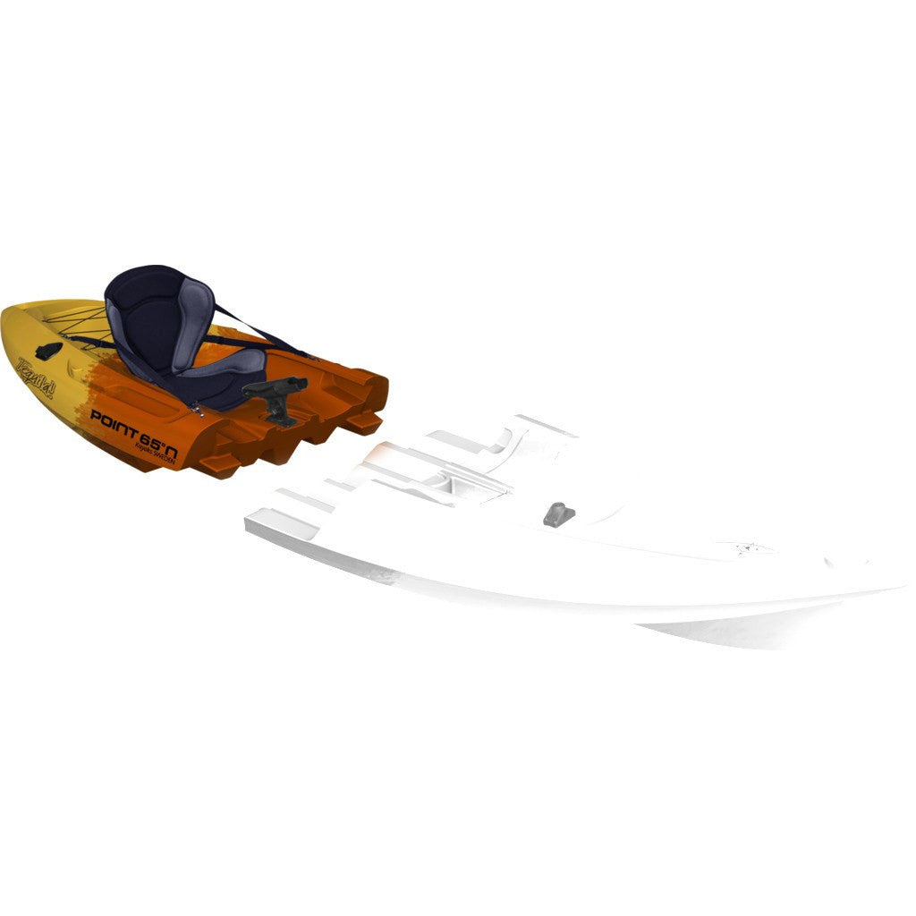 Point 65 Tequila! GTX Angler Modular Kayak Back Section | Yellow/Orange