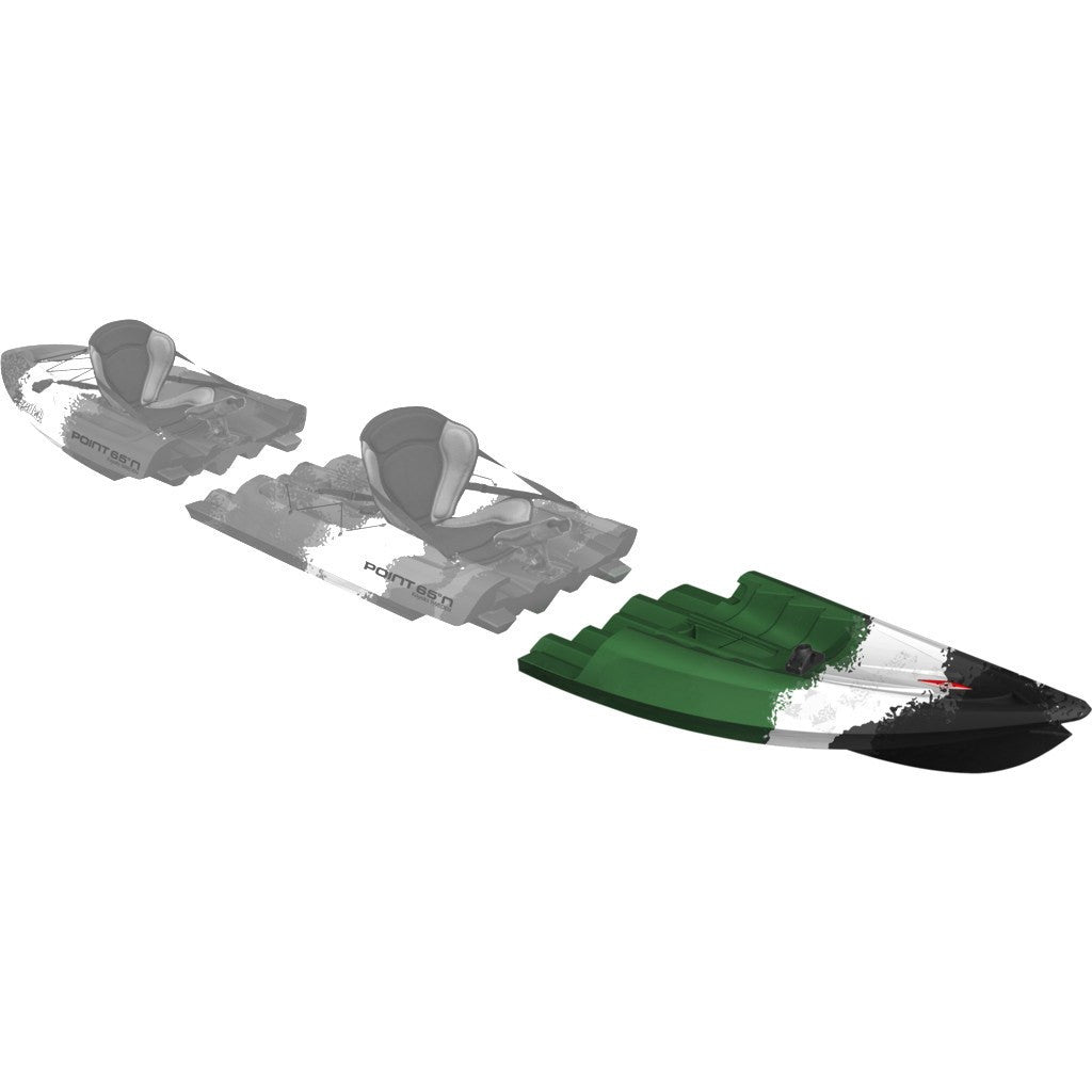 Point 65 Tequila! GTX Angler Modular Kayak Front Section | Green Camo