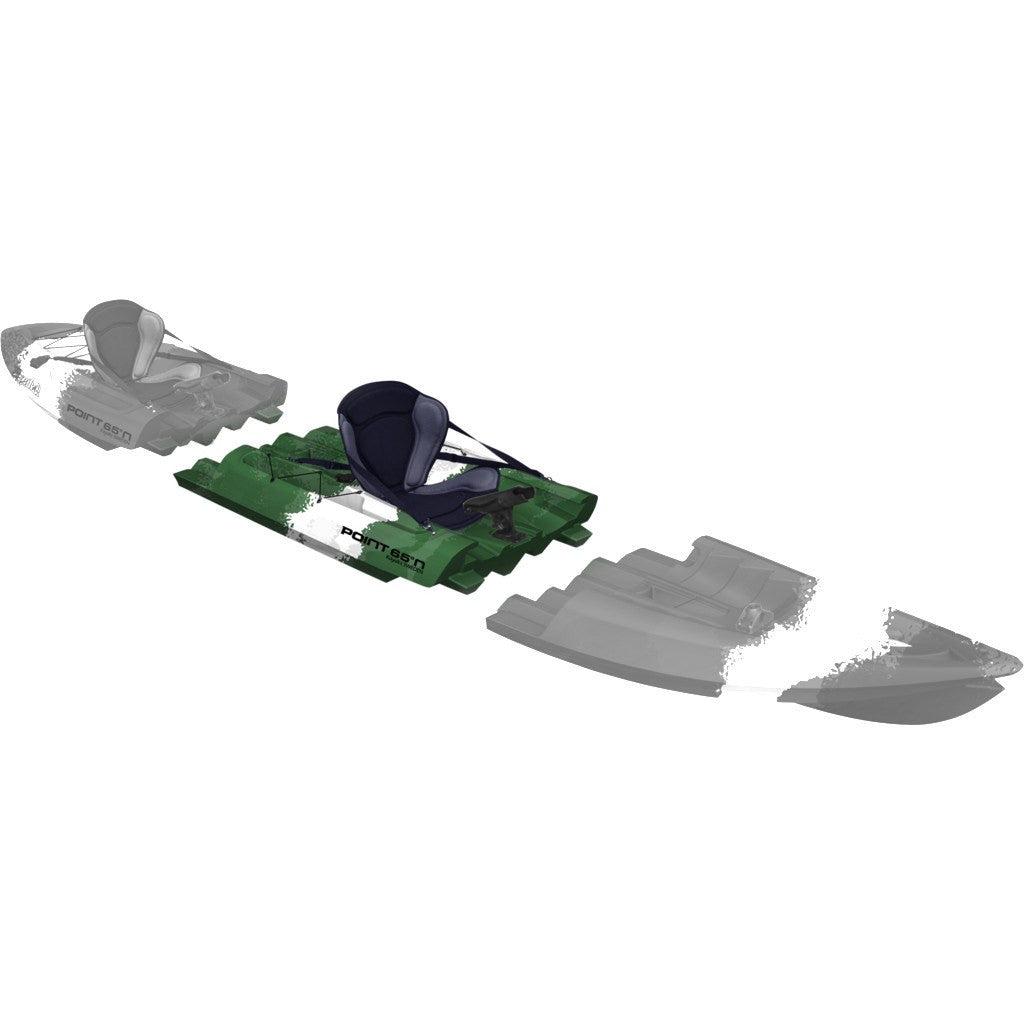 Point 65 Tequila! GTX Angler Modular Kayak Mid Section | Green Camo