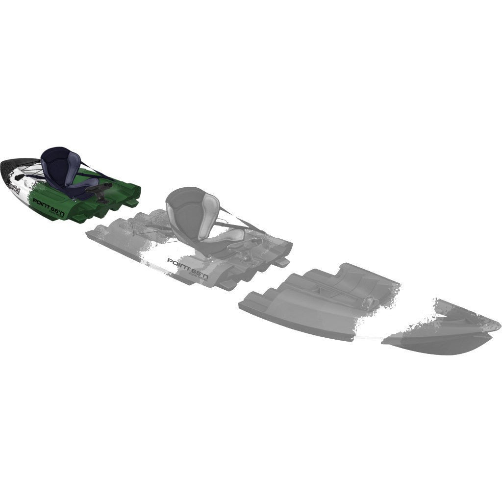 Point 65 Tequila! GTX Angler Modular Kayak Back Section | Green Camo
