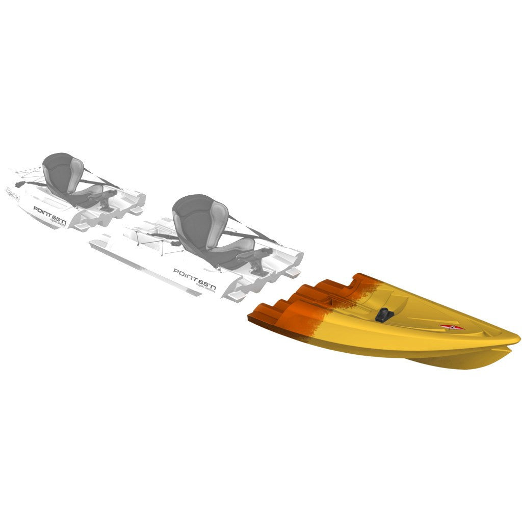 Point 65 Tequila! GTX Angler Modular Kayak Front Section | Yellow/Orange