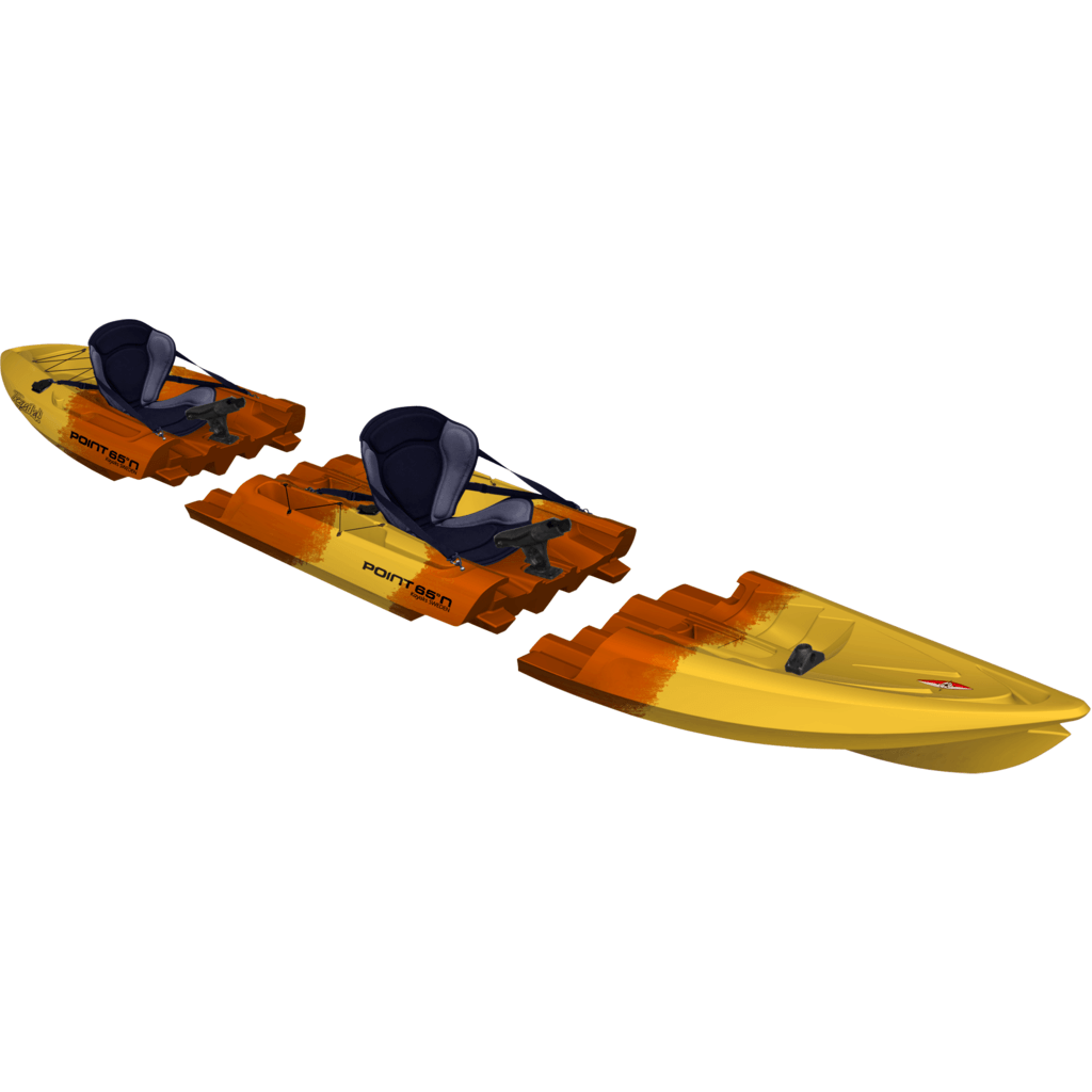 Point 65 Tequila! GTX Angler Modular Kayak Mid Section | Yellow/Orange 40