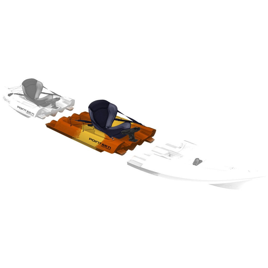 Point 65 Tequila! GTX Angler Modular Kayak Mid Section | Yellow/Orange