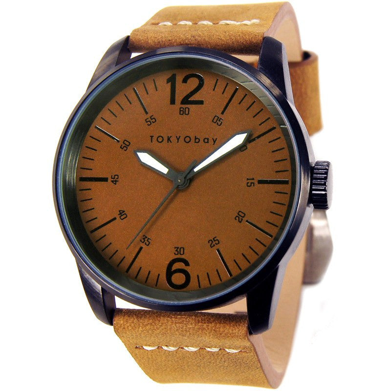 TOKYObay Terrain Men's Watch | Camel