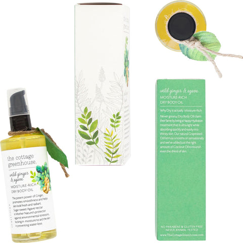 The Cottage Greenhouse Dry Body Oil | Wild Ginger & Agave