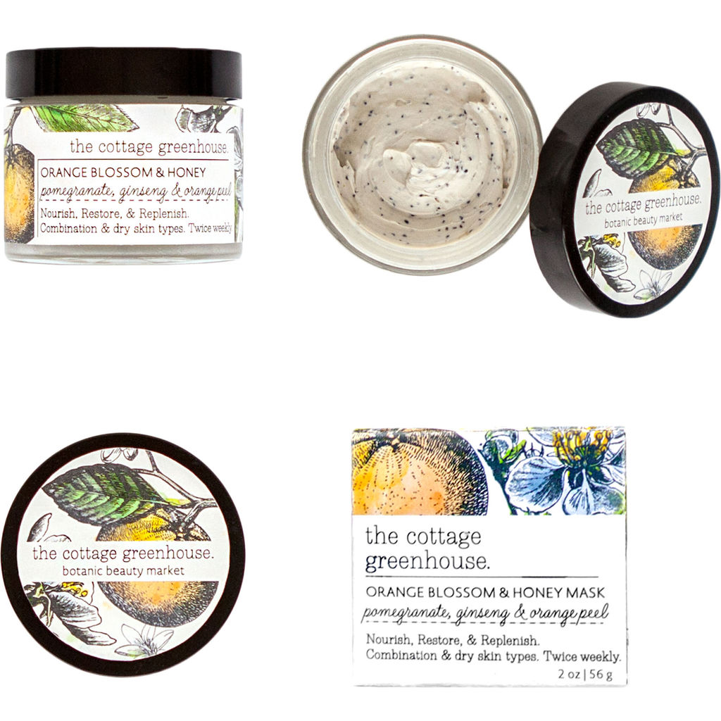 The Cottage Greenhouse Face Mask | Orange Blossom & Honey - 24FM12