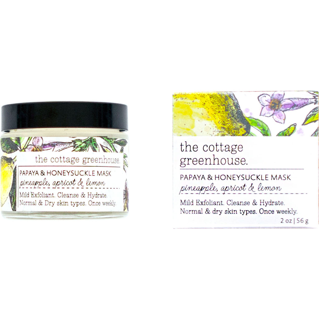 The Cottage Greenhouse Face Mask | Papaya & Honeysuckle- 24FM11