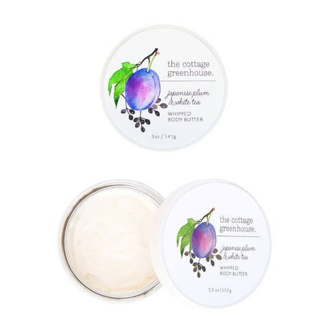 The Cottage Greenhouse Whipped Body Butter | Japanese Plum & White Tea