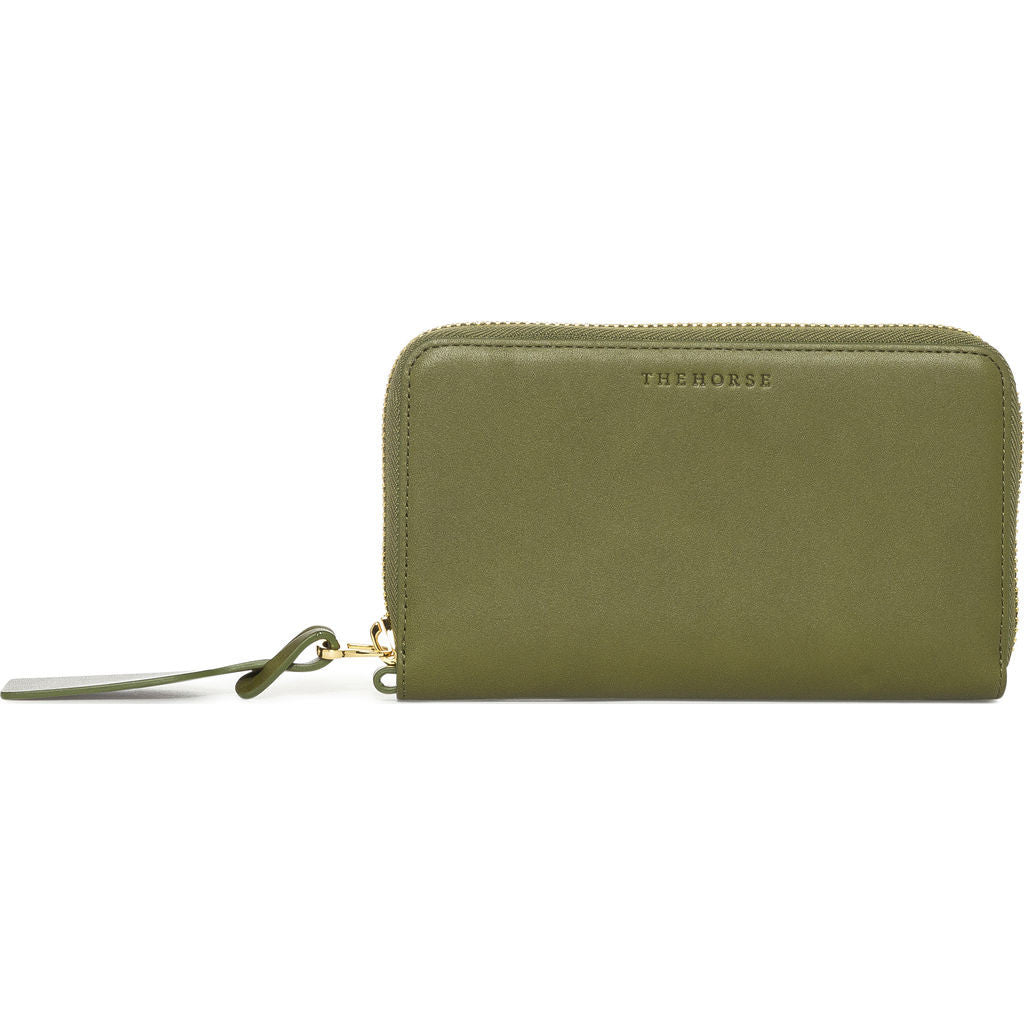 The Horse Block Wallet | Olive/Natural- L23