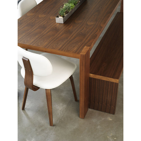 Gus* Modern Thompson Chair | Walnut/White ECCHTHOM-wa-wv