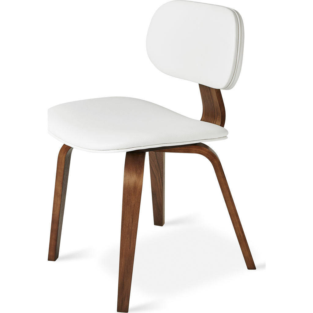 gus modern thompson chair walnut white sportique