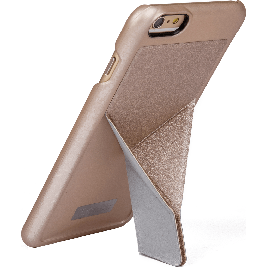 DRACO Design Tigris Polycarbonate Hard Shell Stand iPhone 6/6s Plus Case | Gold TI6P0P-GD